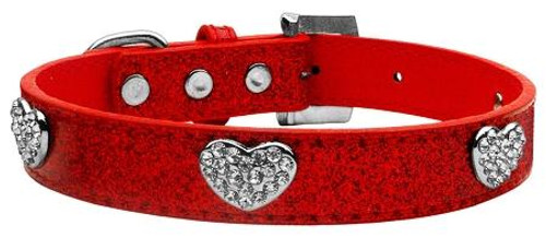 Crystal Heart Ice Cream Collar Red Small