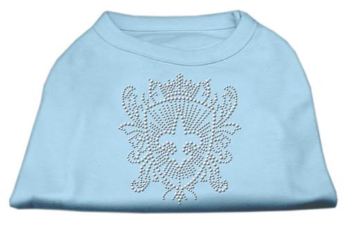 Rhinestone Fleur De Lis Shield Shirts Baby Blue Xs (8)