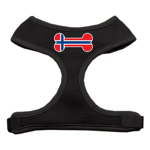Bone Flag Norway Screen Print Soft Mesh Harness Black Large