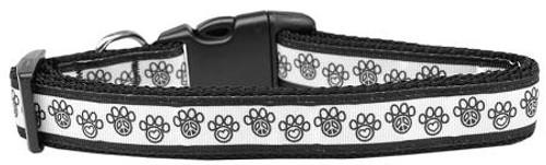 Peace Paw Nylon Dog Collar Medium