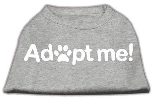 Adopt Me Screen Print Shirt Grey Lg (14)