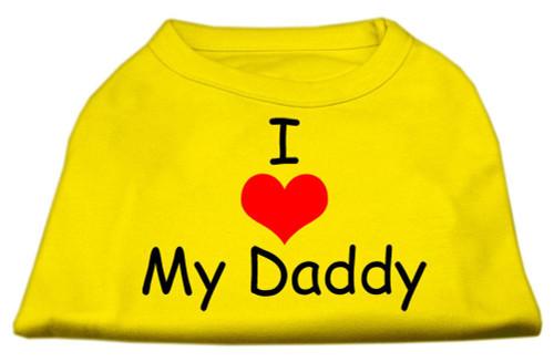 I Love My Daddy Screen Print Shirts Yellow Xxl (18)