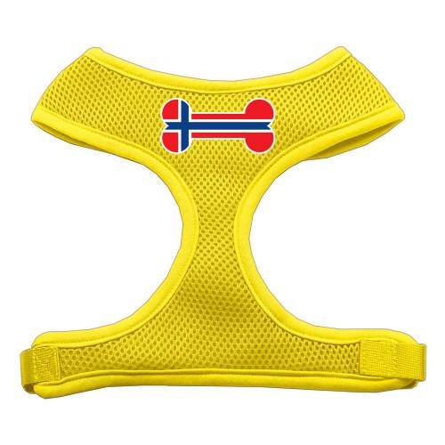 Bone Flag Norway Screen Print Soft Mesh Harness Yellow Large