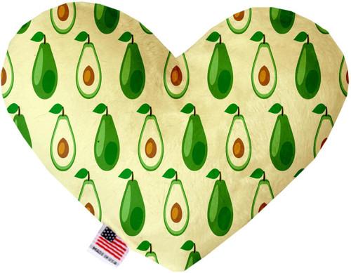 Avocado Paradise 6 Inch Heart Dog Toy