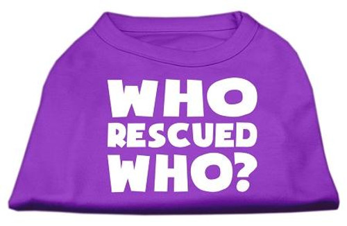 Who Rescued Who Screen Print Shirt Purple Sm (10)