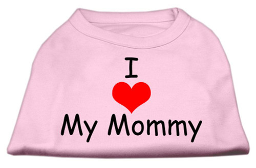 I Love My Mommy Screen Print Shirts Pink Xs (8) - 51-35 XSLPK
