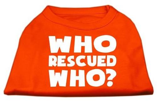 Who Rescued Who Screen Print Shirt Orange Sm (10)
