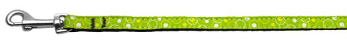 Retro Nylon Ribbon Collar Lime Green 3/8 Wide 6ft Lsh - 125-003 3806LG