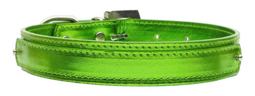 """3/4"""" (18mm) Metallic Two-tier Collar  Lime Green Large - 18-02 LGLGM"""