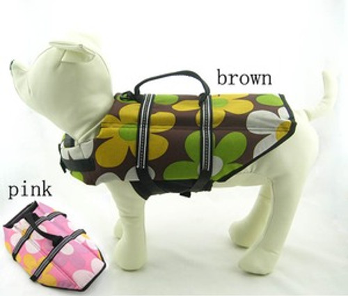 Small Dog  Floral Designs Life Jacket