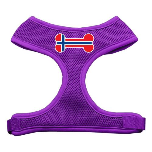 Bone Flag Norway Screen Print Soft Mesh Harness Purple Large