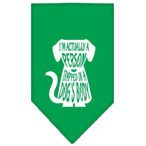 Trapped Screen Print Bandana Emerald Green Small