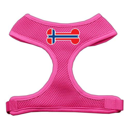 Bone Flag Norway Screen Print Soft Mesh Harness Pink Large