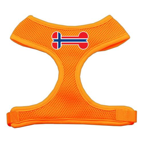 Bone Flag Norway Screen Print Soft Mesh Harness Orange Large