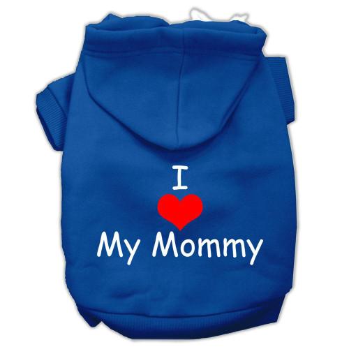 I Love My Mommy Screen Print Pet Hoodies Blue Size Xs (8)