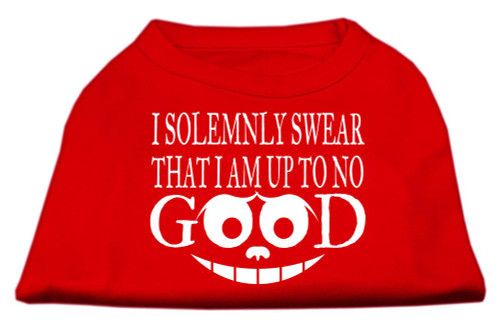 Up To No Good Screen Print Shirt Red Med (12)