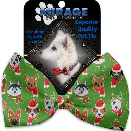 Christmas Dogs Pet Bow Tie
