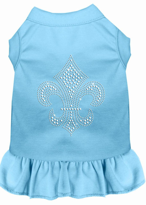 Silver Fleur De Lis Rhinestone Dress Baby Blue Xxl (18)