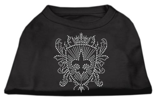 Rhinestone Fleur De Lis Shield Shirts Black Xs (8)