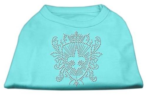 Rhinestone Fleur De Lis Shield Shirts Aqua Xs (8)