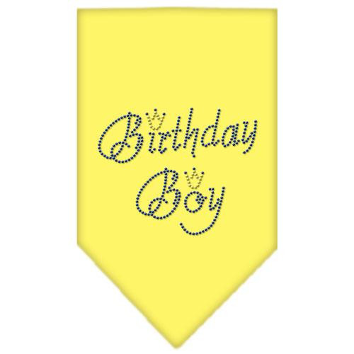 Birthday Boy Rhinestone Bandana Yellow Large