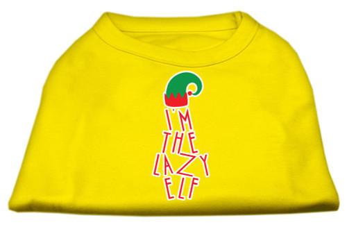 Lazy Elf Screen Print Pet Shirt Yellow Xxl (18)