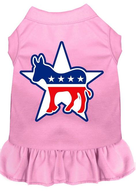 Democrat Screen Print Dress Light Pink Lg (14)