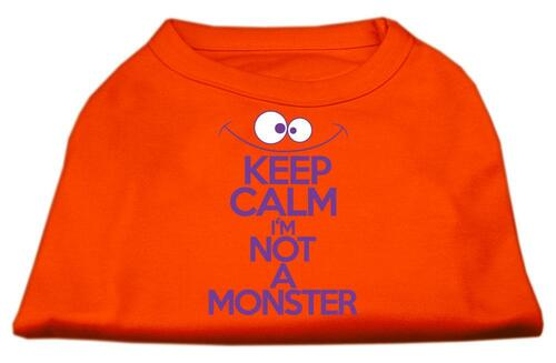 Keep Calm Screen Print Dog Shirt Orange Med (12)