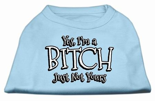 Yes Im A Bitch Just Not Yours Screen Print Shirt Baby Blue Lg (14)