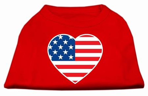 American Flag Heart Screen Print Shirt Red Sm (10)
