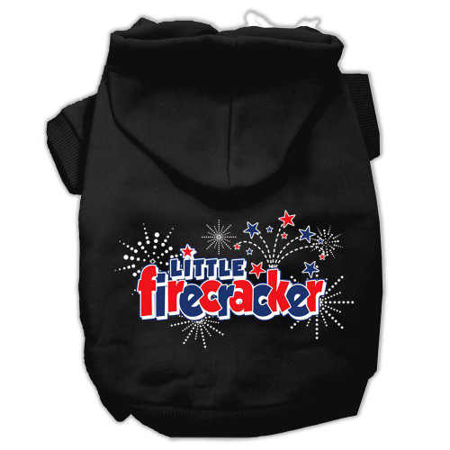 Little Firecracker Screen Print Pet Hoodies Black L (14)