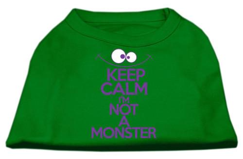 Keep Calm Screen Print Dog Shirt Green Med (12)
