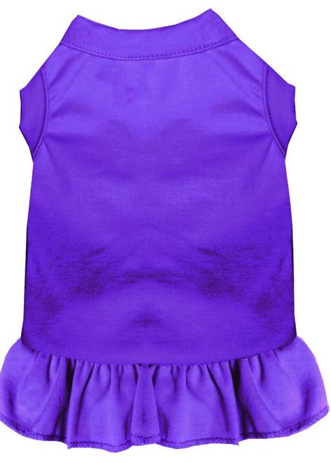 Plain Pet Dress Purple Xs (8)
