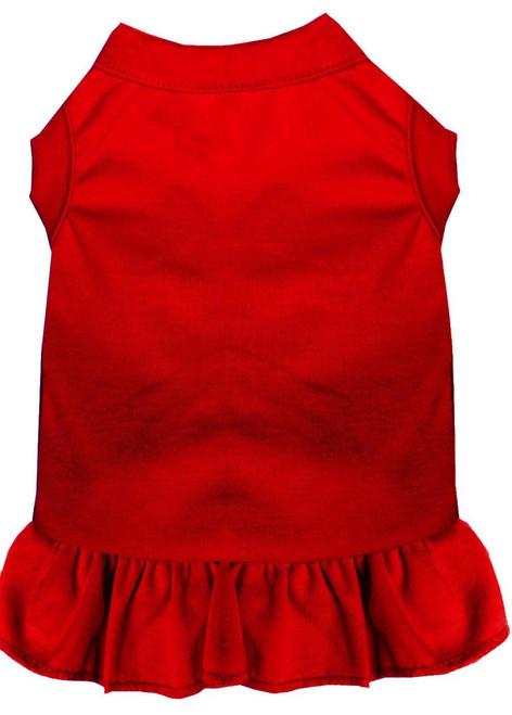 Plain Pet Dress Red Xs (8)