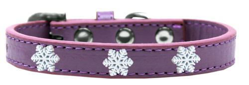 Snowflake Widget Dog Collar Lavender Size 16