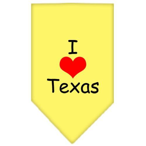 I Heart Texas  Screen Print Bandana Yellow Large
