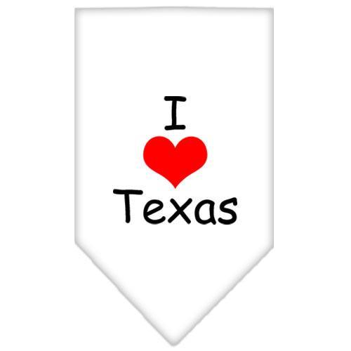 I Heart Texas  Screen Print Bandana White Large