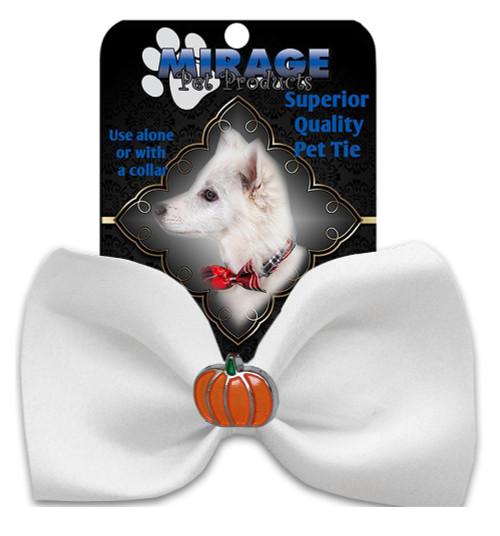 Pumpkin Widget Pet Bowtie White