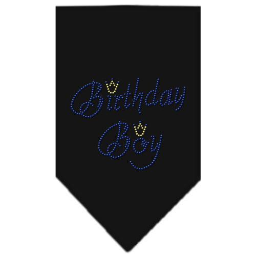 Birthday Boy Rhinestone Bandana Black Large