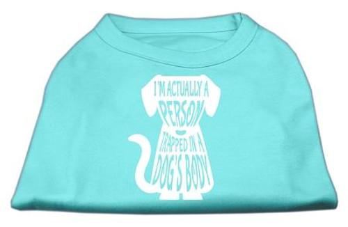 Trapped Screen Print Shirt Aqua Xl (16)