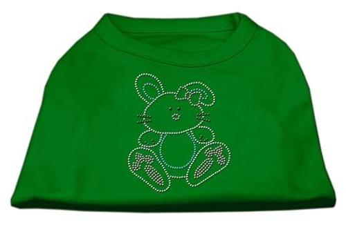 Bunny Rhinestone Dog Shirt Emerald Green Sm (10)