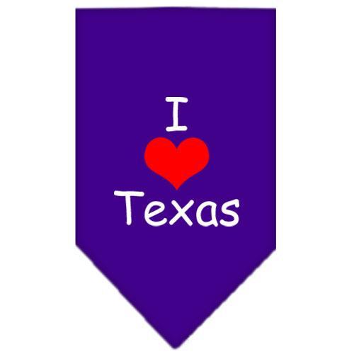 I Heart Texas  Screen Print Bandana Purple Large
