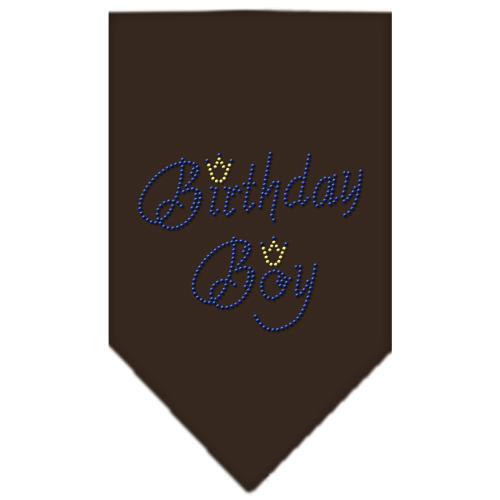 Birthday Boy Rhinestone Bandana Cocoa Large