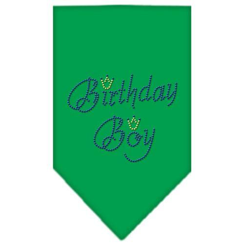 Birthday Boy Rhinestone Bandana Emerald Green Large