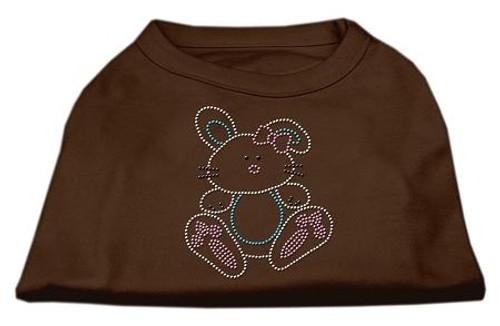 Bunny Rhinestone Dog Shirt Brown Sm (10)