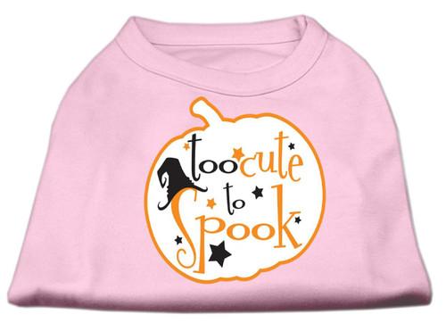 Too Cute To Spook Screen Print Dog Shirt Light Pink Xl (16)