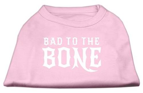 Bad To The Bone Dog Shirt Light Pink Med (12)