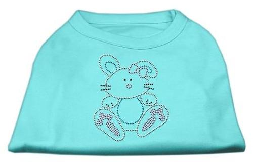 Bunny Rhinestone Dog Shirt Aqua Sm (10)