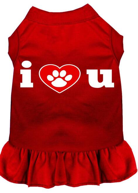 I Heart You Screen Print Dress Red Lg (14)