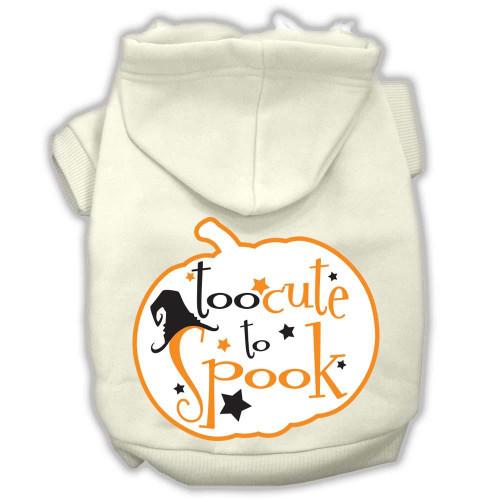 Too Cute To Spook Screenprint Hoodie Cream S (10)